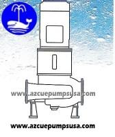 LD - Vertical In-line centrifugal pump, double suctionimpeller