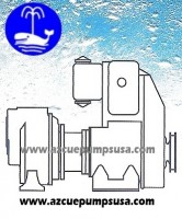 CA Diesel/Gas - Closed coupled self-priming centrifugal pump, with diesel or petrol engine